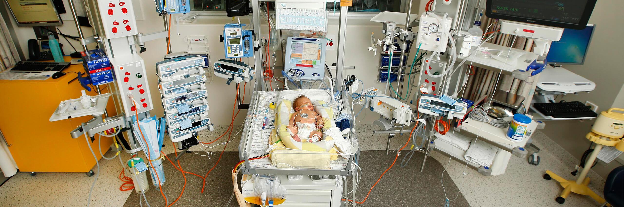 Emmett in ICU